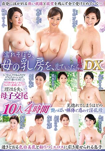 濡れそぼる、母の乳房を、見ていたら。DX 10人4時間 HONEX-23